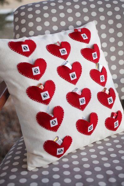 almofada romântica de coração